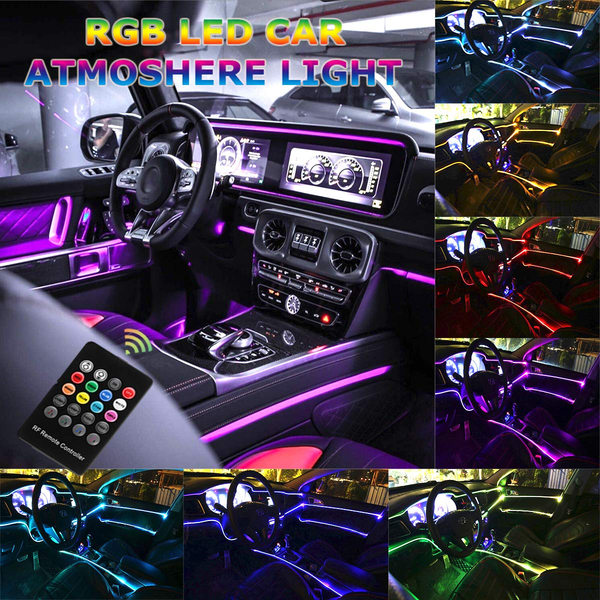 Neon GREEN Under Car Accent Underbody LED Glow Rock Lights for Ford F-150 F-250
