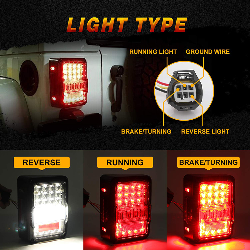 Dot Approved 4d Led Tail Lights For 2007 2017 Jeep