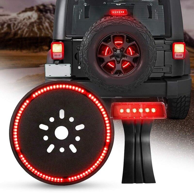 Spare Tire Brake Light LED 3rd Third Brake Light Wheel Light for 2018 2019 Jeep Wrangler JL JLU Tail Light Rear Light